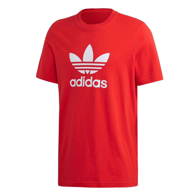 adidas Originals Trefoil T-Shirt Herren rot weiß FM3791