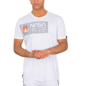 Alpha Industries Herren Mars Reflective T-Shirt weiß  – Bild 1