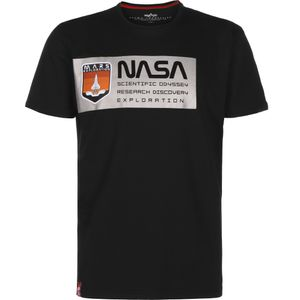 Alpha Industries Herren Mars Reflective T-Shirt schwarz – Bild 1