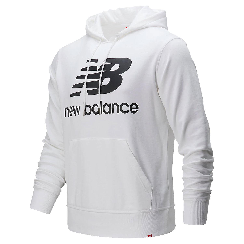 New Balance MT91547 BK Essentials Stacked Logo Hoody Herren weiß