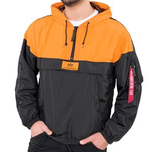 Alpha Industries Herren Tape Anorak Jacke schwarz orange – Bild 1