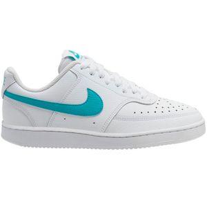 Nike WMNS Court Vision Low Sneaker weiß türkis – Bild 1