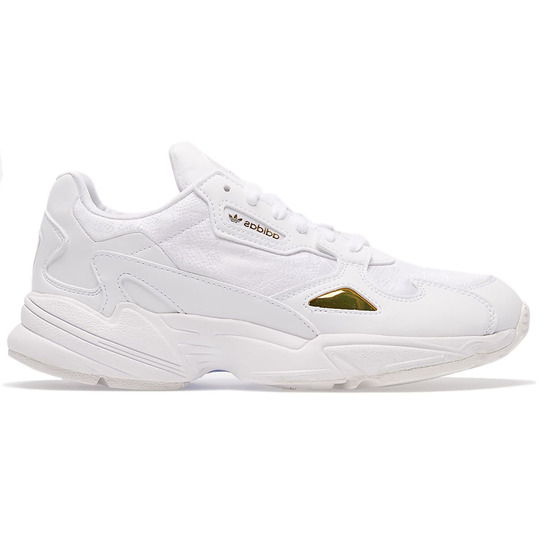 adidas Originals Falcon W Damen Sneaker weiß gold   Schuhroom.de