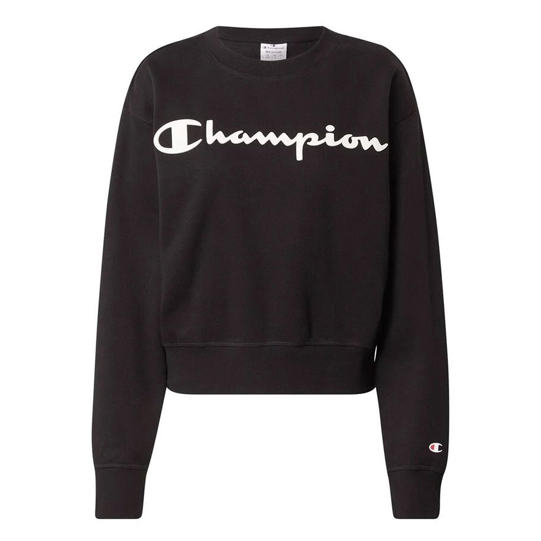 Champion Crewneck Sweater Damen schwarz 113214 KK001