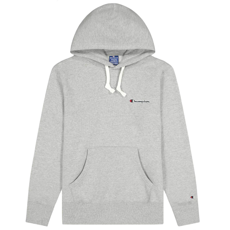 Champion Small Script Logo Hooded Sweatshirt Herren grau