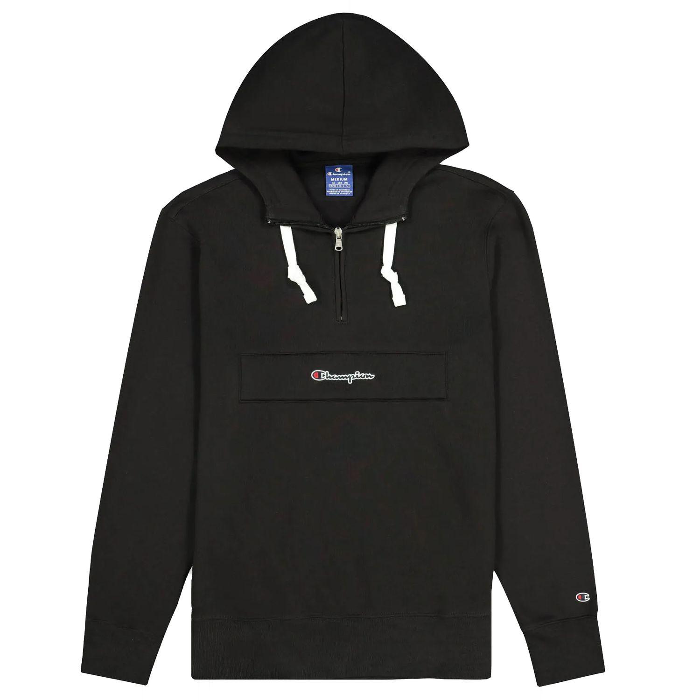 Champion Half Zip Hooded Sweatshirt Herren schwarz