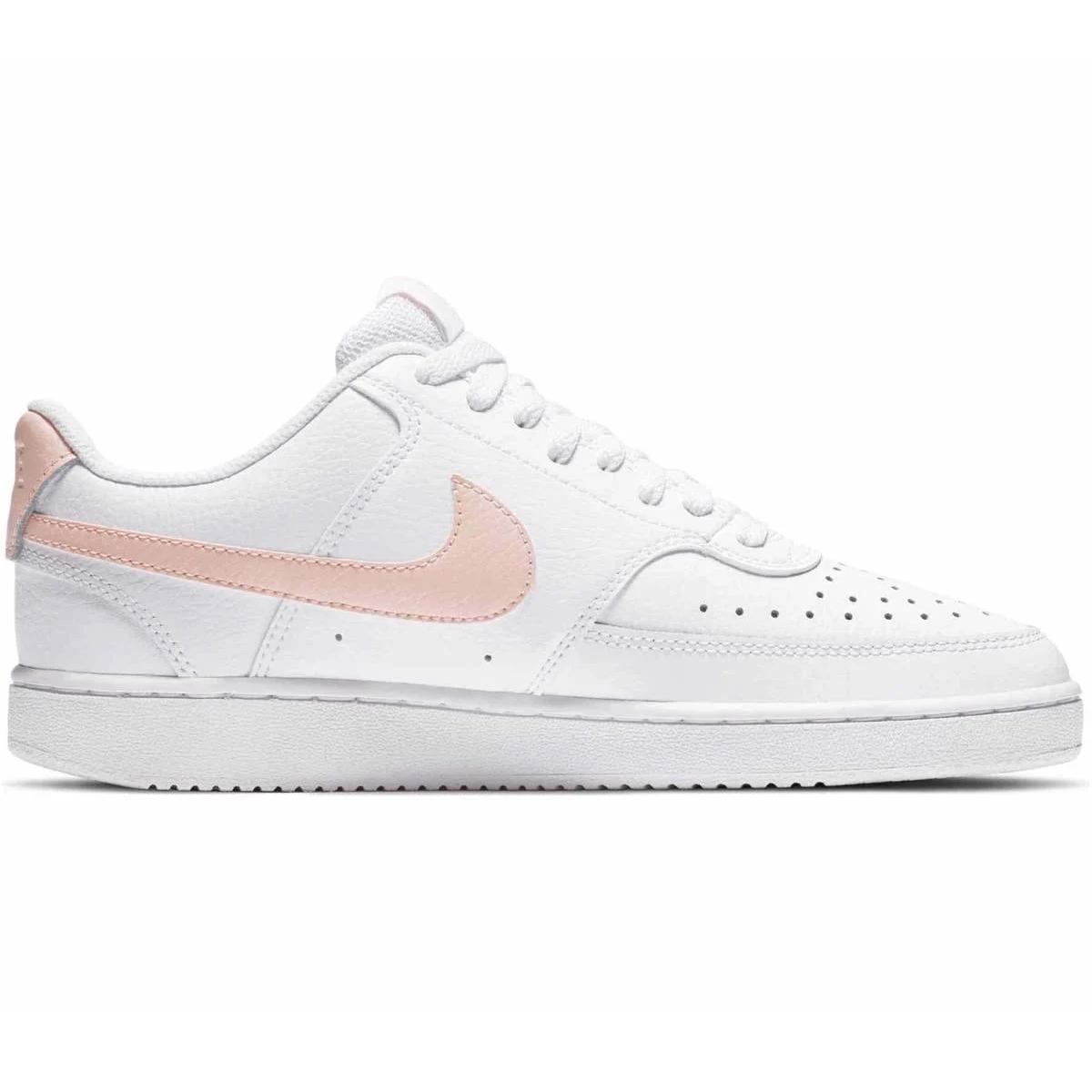 Nike Court Vision Low Sneaker Damen weiß coral