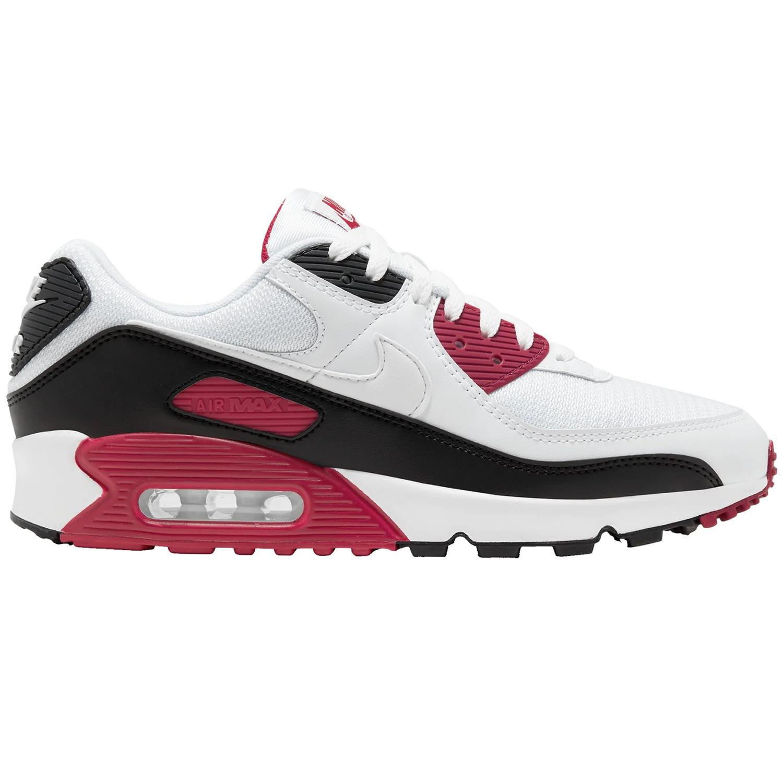 Nike Air Max 90 Sneaker weiß schwarz weinrot