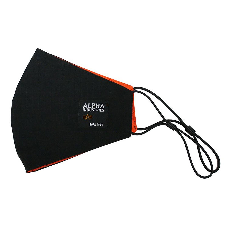 Alpha Industries Label Ripstop Mund-Nasenmaske 128942/03 black