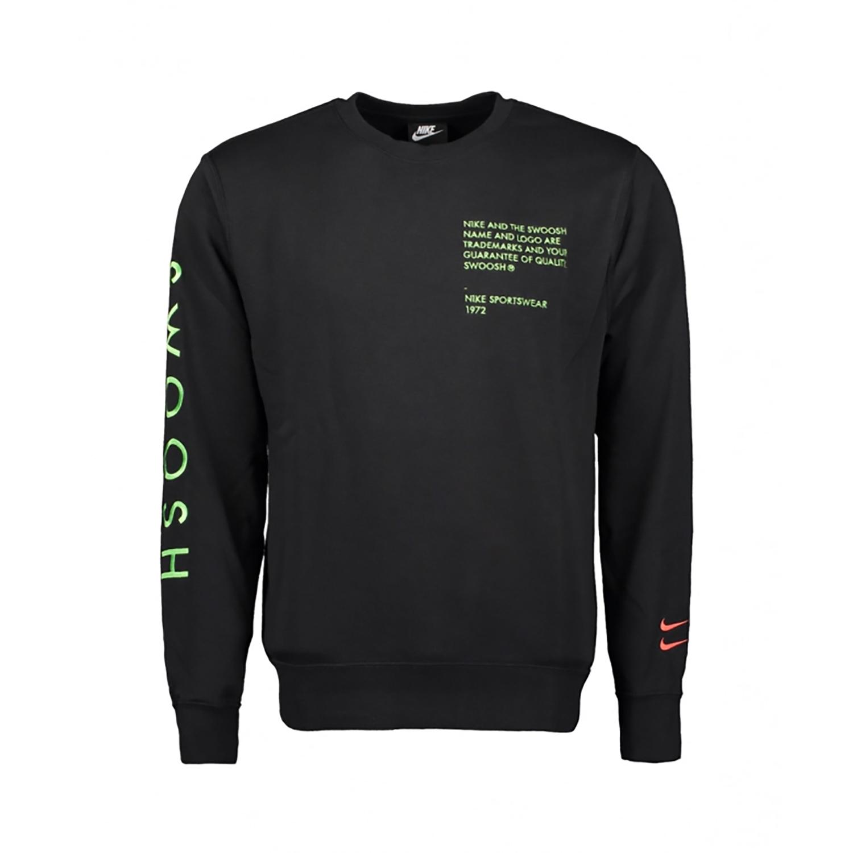 Nike NSW Swoosh Sweatshirt Herren schwarz