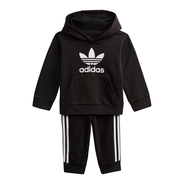 adidas Originals Kinder Trefoil Hoodie-Set Kleinkinder schwarz DV2809