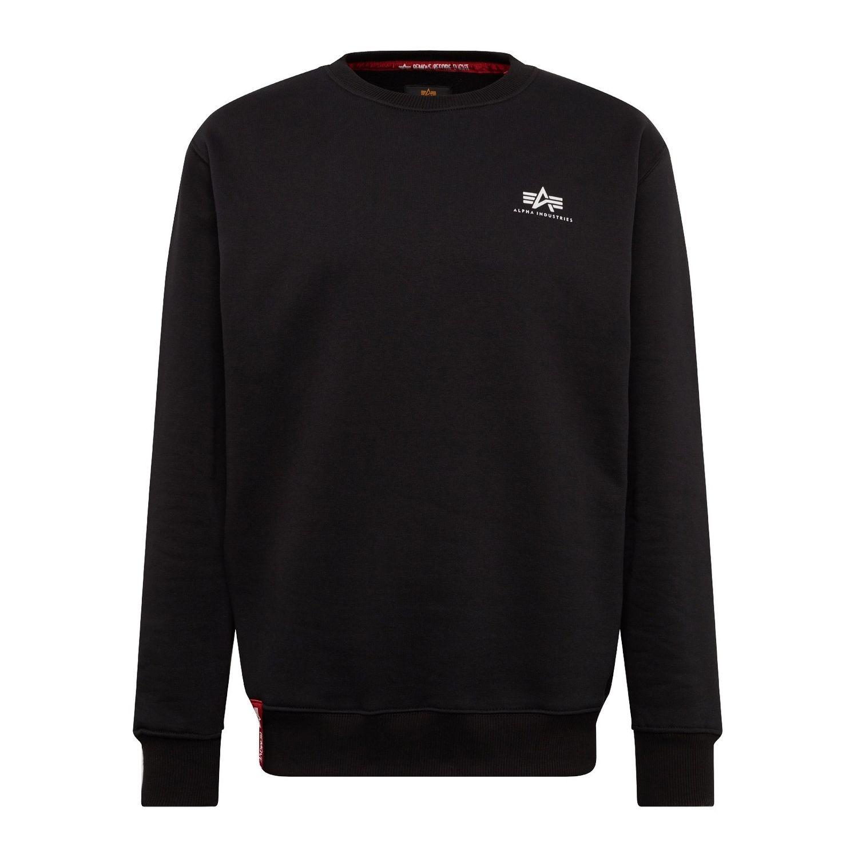 Alpha Industries Basic Sweater Small Logo schwarz