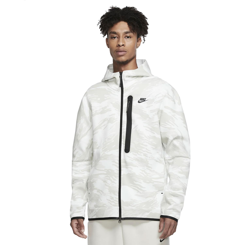 Nike Tech Fleece Hoodie Herren Kapuzenjacke weiß camo CU4491 121