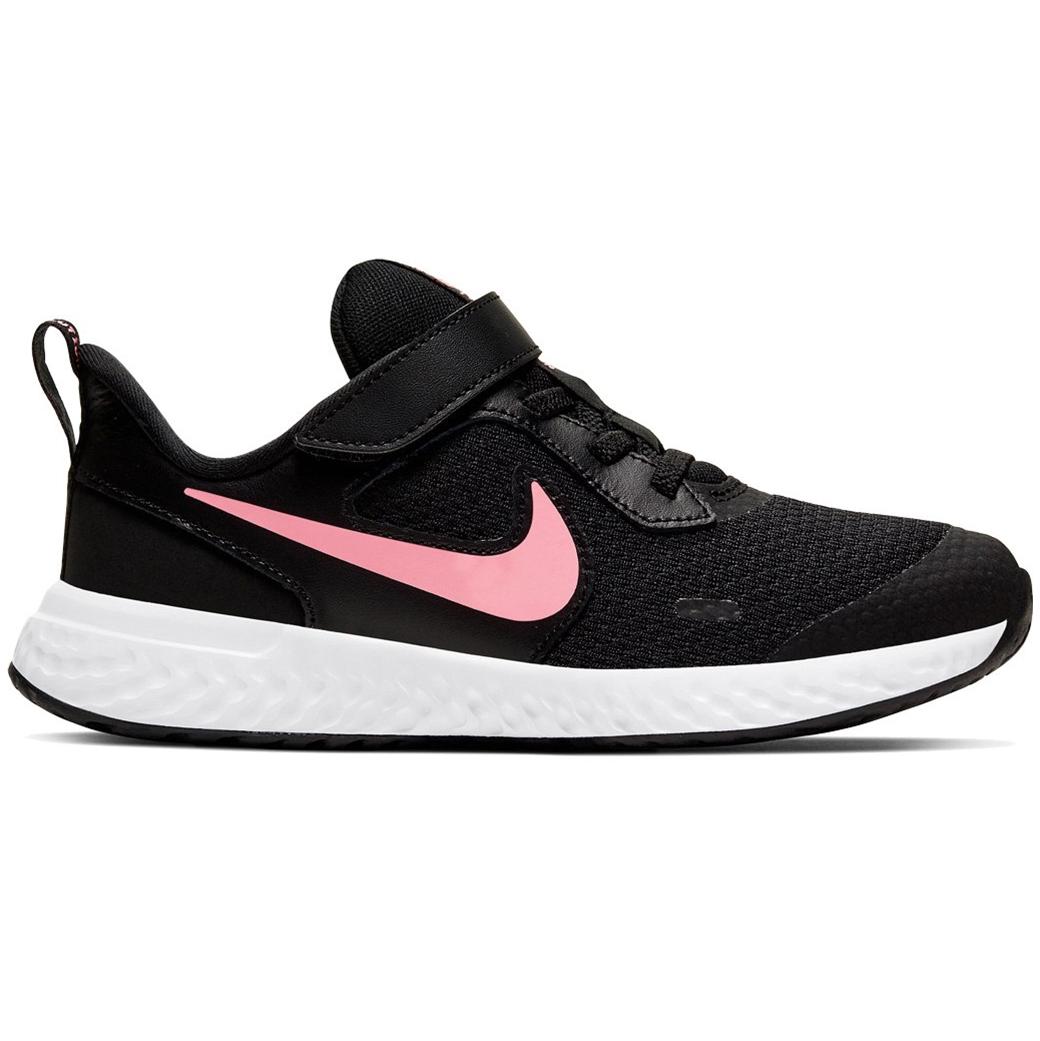 Nike Revolution 5 PSV Running Sneaker schwarz weiß rosa