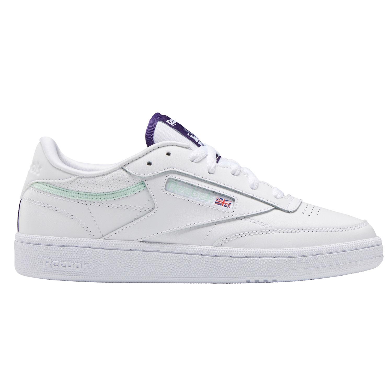 Reebok Sneaker Club C 85 Damen white dark orchid aqua dust