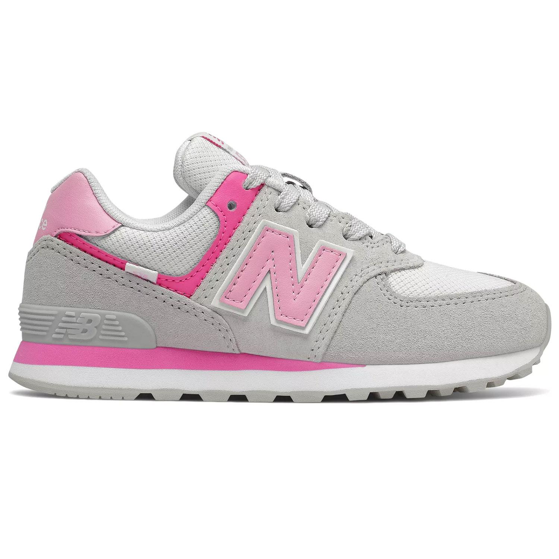 New Balance GC574SA2 Mädchen Sneaker grau weiß pink