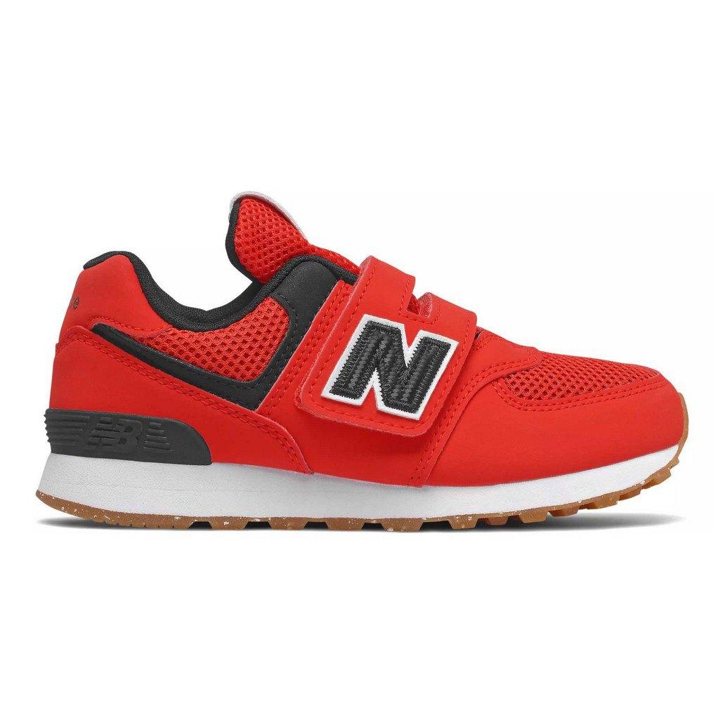 New Balance PV574BRK Klettverschluss Kinder Sneaker rot schwarz