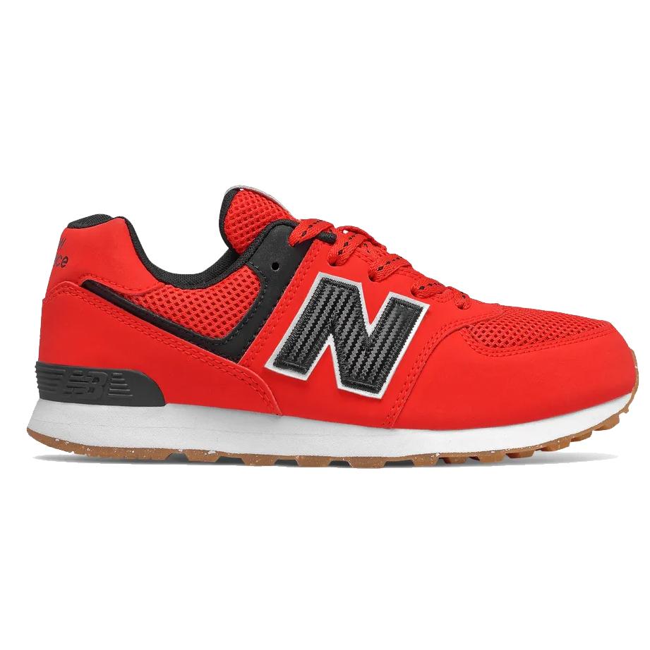 New Balance GC574BRK Kinder Sneaker rot schwarz