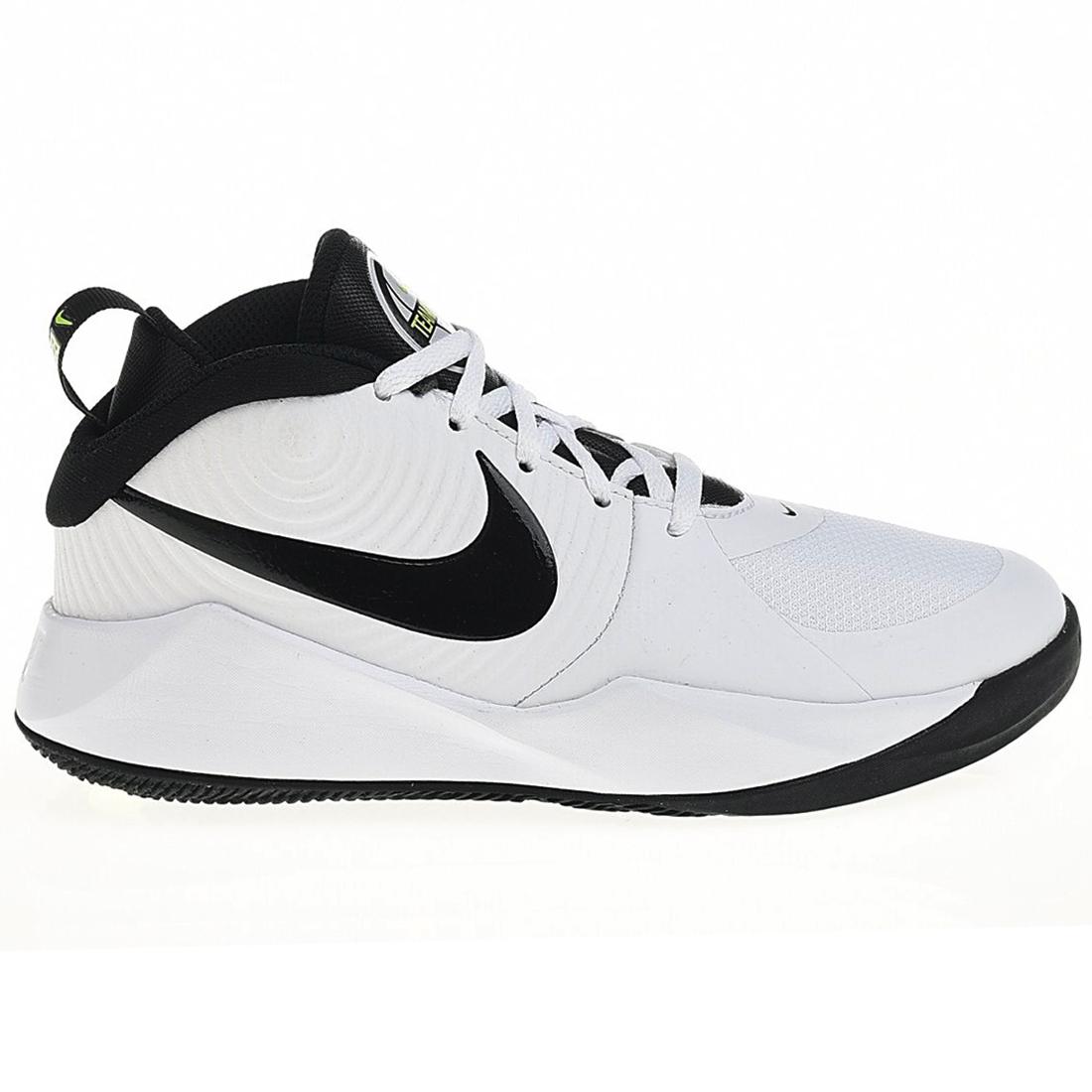 Nike Team Hustle 9 GS Basketball Sneaker weiß schwarz