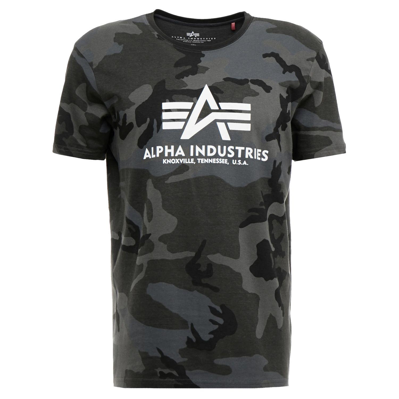 Alpha Industries Basic T-Shirt black camo