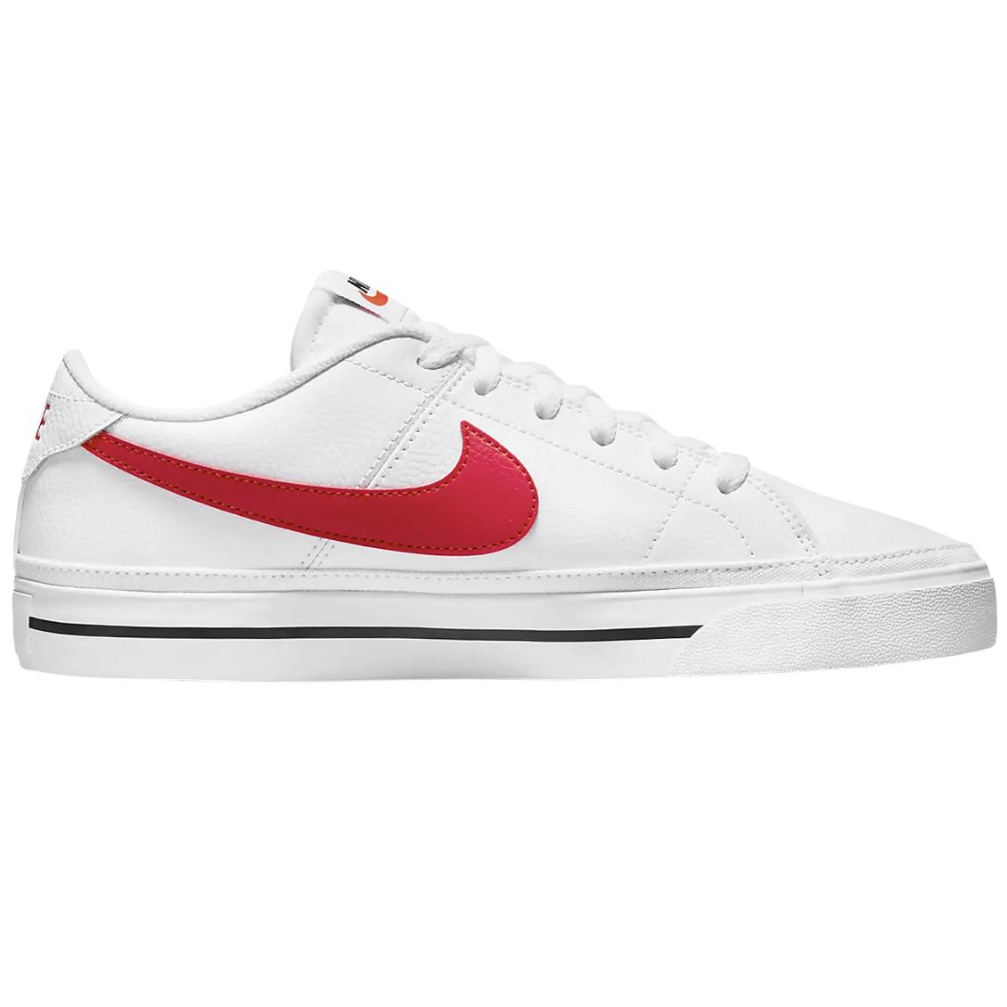 Nike Court Legacy Sneaker weiß rot schwarz