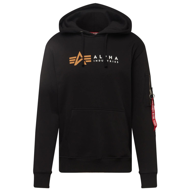 Alpha Industries Label Hoody Herren schwarz