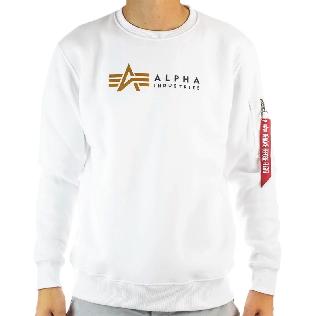 Alpha Industries Label Sweater Herren weiß