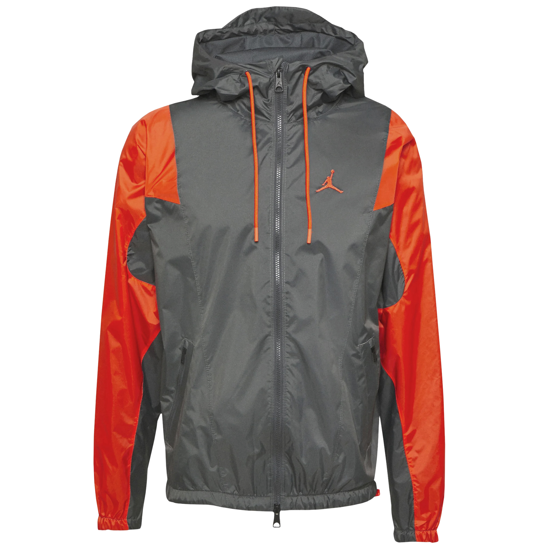 Nike Air Jordan Herren Windbreaker grau orange