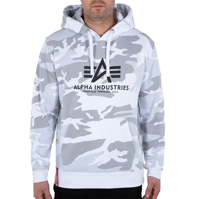 Alpha Industries Basic Hoody weiß grau camo