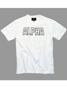 Alpha Industries Track T Shirt weiß