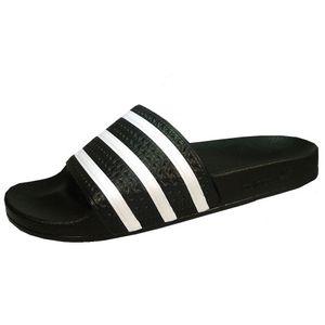 adidas Adilette Badeschuh schwarz weiss