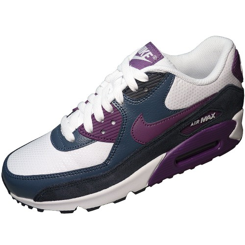 nike wmns air max 90 essential damen sneaker wei grau lila. Black Bedroom Furniture Sets. Home Design Ideas