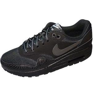Nike Air Max 1 (GS) Kinder Sneaker Freizeitschuh Schwarz