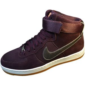 Nike Womens AF1 Ultra Force Mid Damen Sneaker burgundy