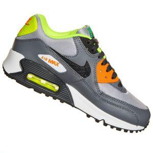 Nike Air Max 90 (GS) Sneaker grau orange neon gelb – Bild 2