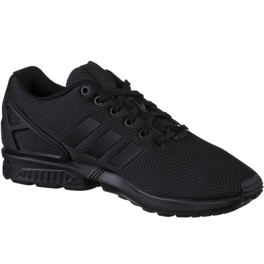 adidas ZX Flux K Kinder Damen Sneaker schwarz all black