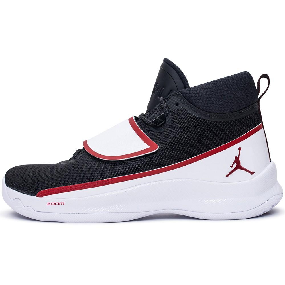 Nike Jordan Super.Fly 5 Po Basketball schwarz weiß rot