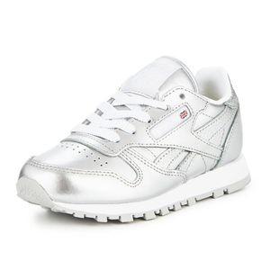 Reebok Classic Leather Metallic Kinder Sneaker silber – Bild 2