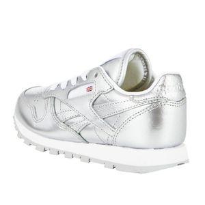 Reebok Classic Leather Metallic Kinder Sneaker silber – Bild 3