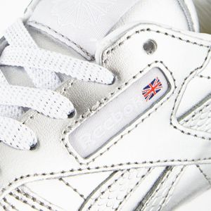 Reebok Classic Leather Metallic Kinder Sneaker silber – Bild 6