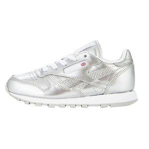 Reebok Classic Leather Metallic Kinder Sneaker silber – Bild 1