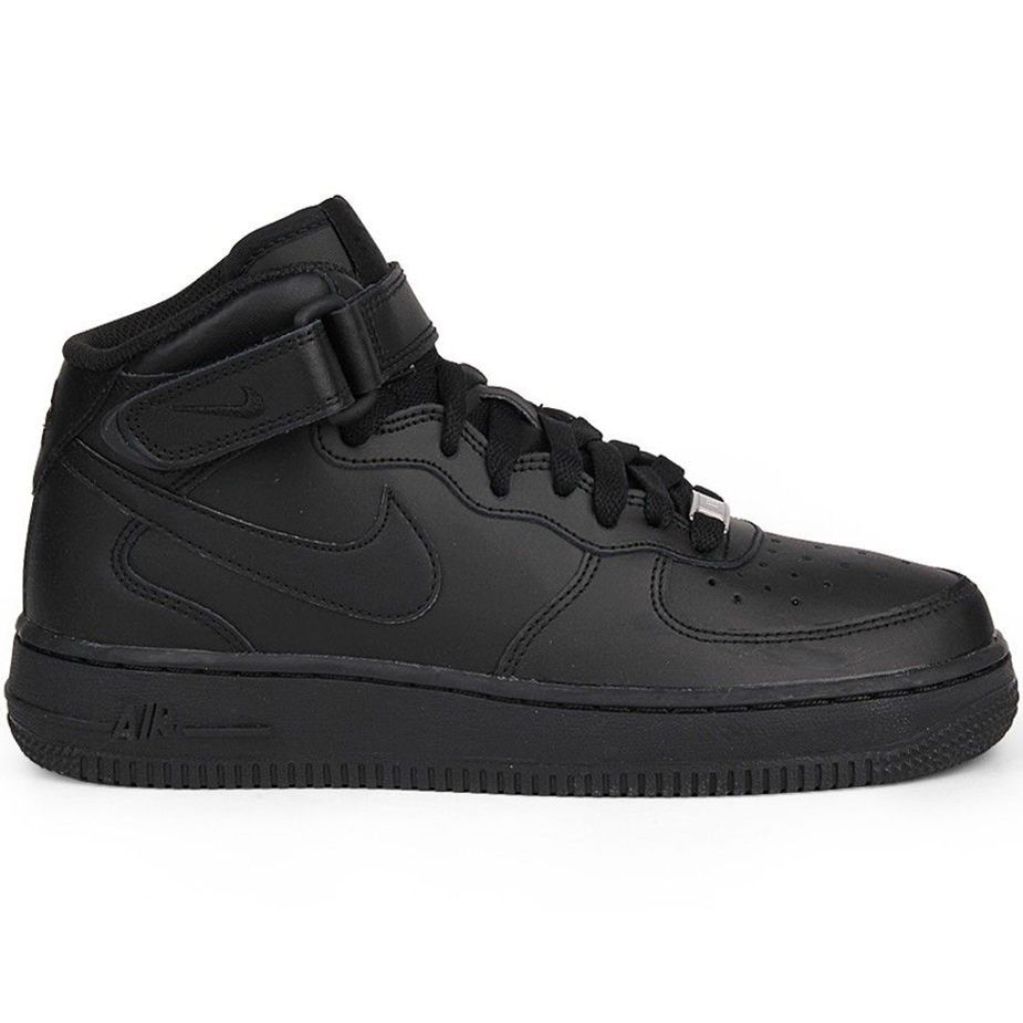 Nike Air Force 1 Mid GS High Top Sneaker schwarz