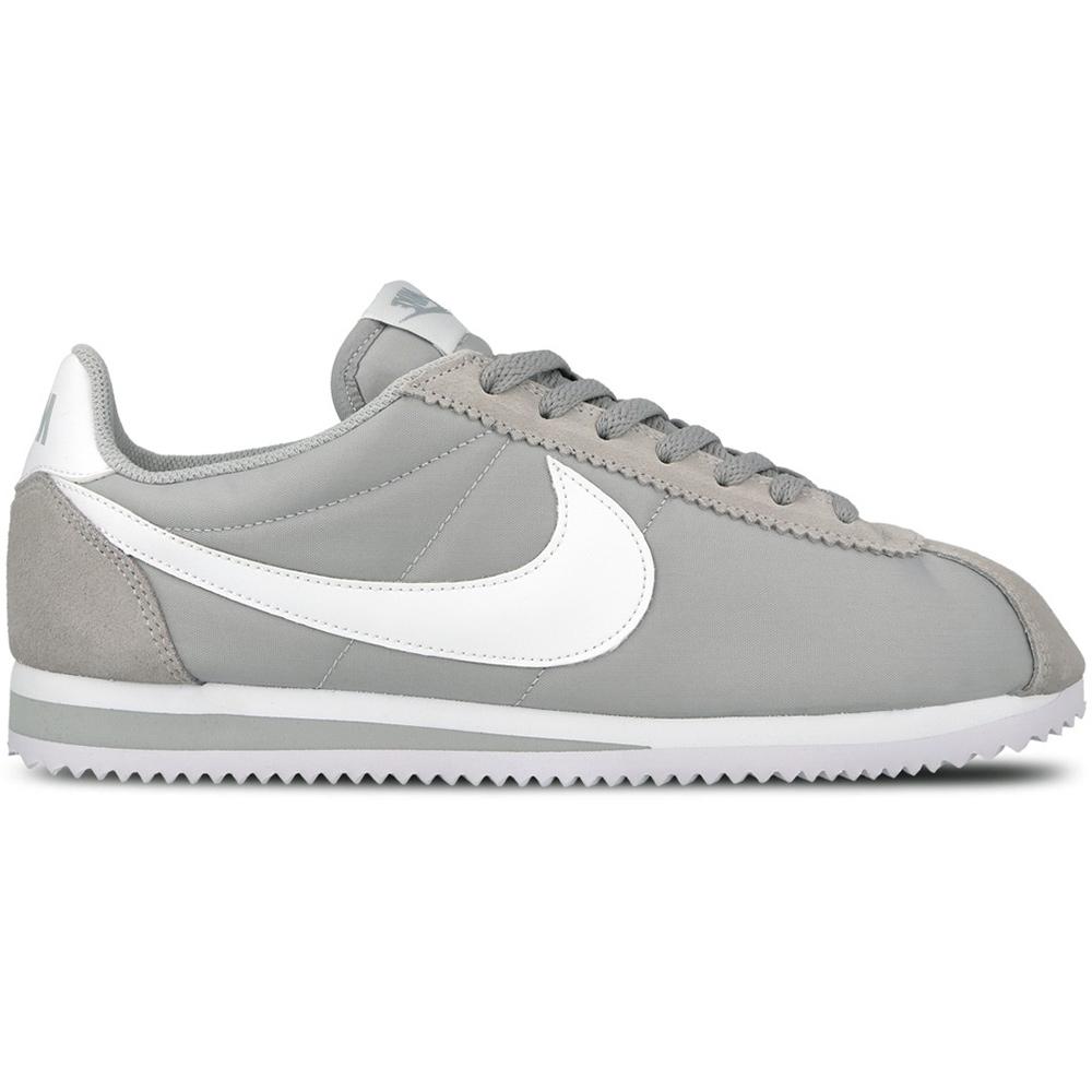 Nike Classic Cortez Nylon Herren Sneaker grau weiß