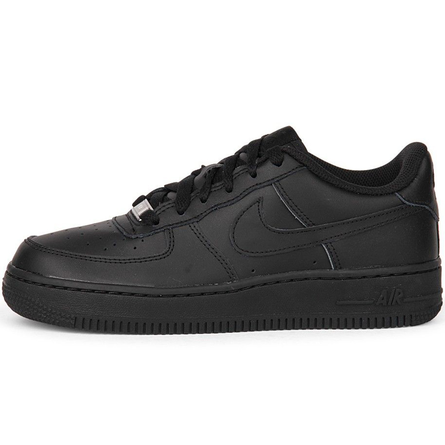 nike air force 1 gs damen kinder sneaker schwarz. Black Bedroom Furniture Sets. Home Design Ideas