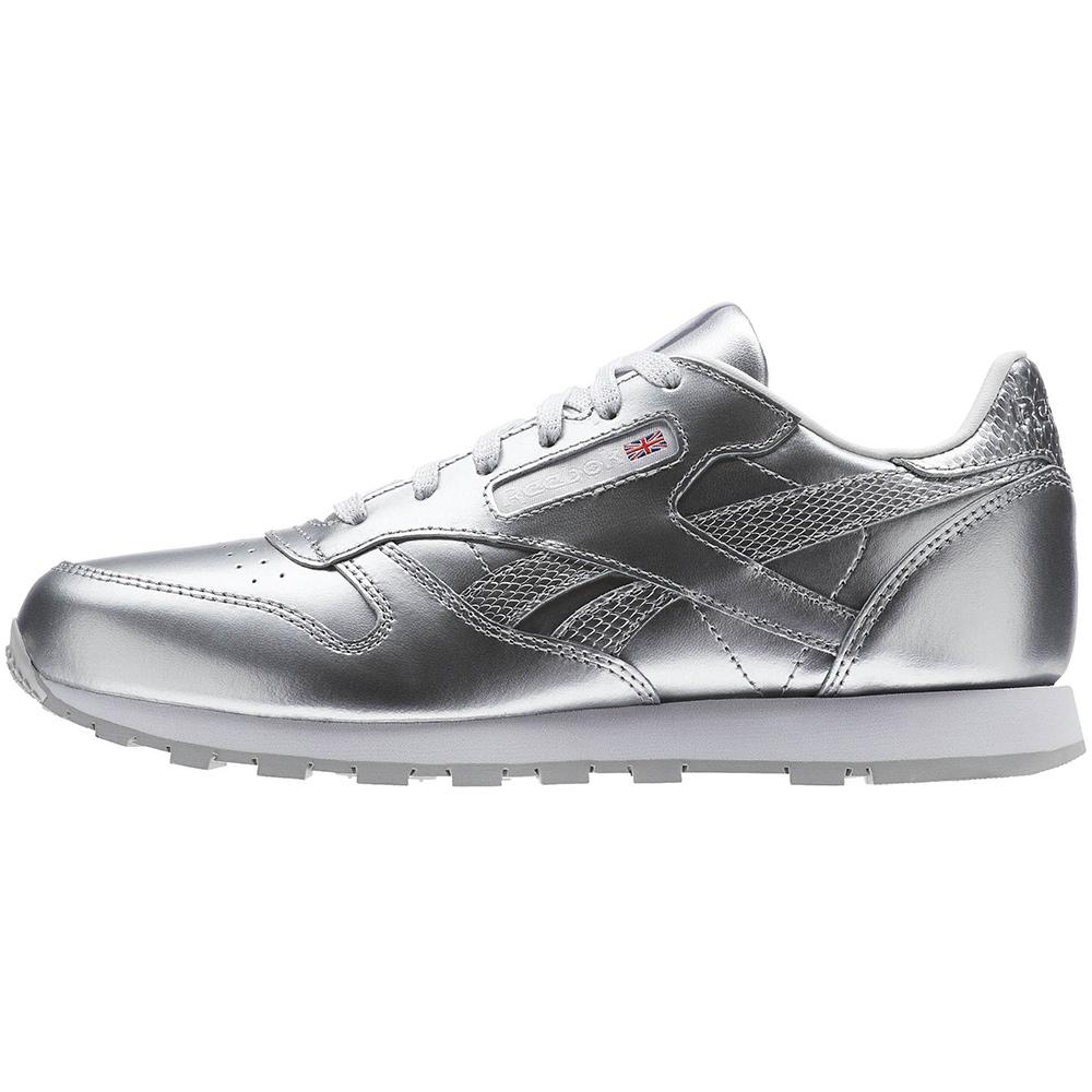 1dc9fb834bf Reebok Classic Leather Metallic Junior Kinder Sneaker silber – Bild 2