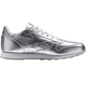 Reebok Classic Leather Metallic Junior Kinder Sneaker silber – Bild 3