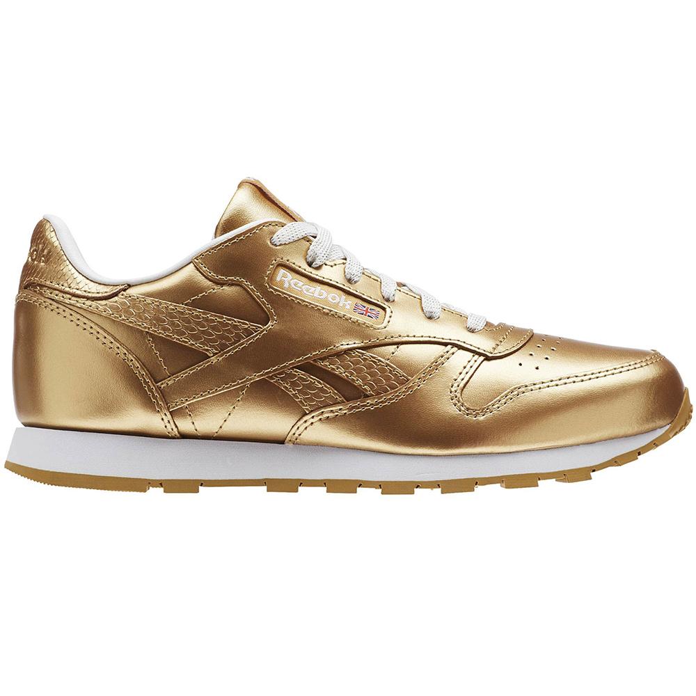 Reebok Classic Leather Metallic Junior Kinder Sneaker gold