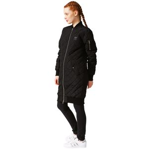 adidas Originals Long Bomber Damen Steppmantel schwarz – Bild 5