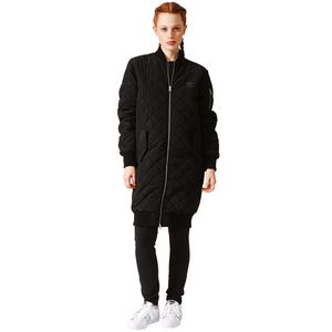 adidas Originals Long Bomber Damen Steppmantel schwarz – Bild 4