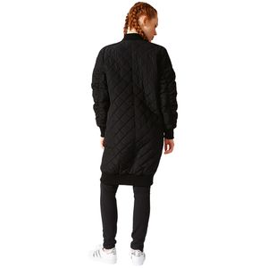 adidas Originals Long Bomber Damen Steppmantel schwarz – Bild 3